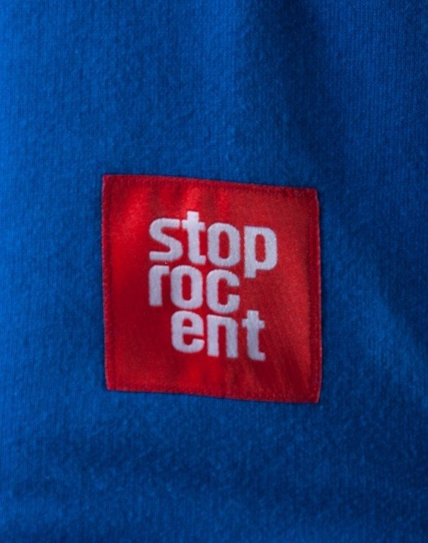STOPROCENT BLUZA Z KAPTUREM TRAIN BLUE