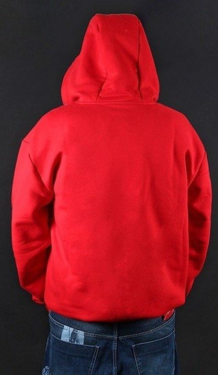 STOPROCENT BLUZA Z KAPTUREM ZIP SIMPLE RED