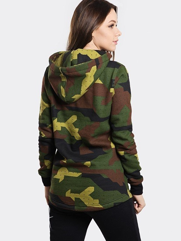 STOPROCENT HOODIE WOMAN TAGSPLOT17 CAMO GREEN