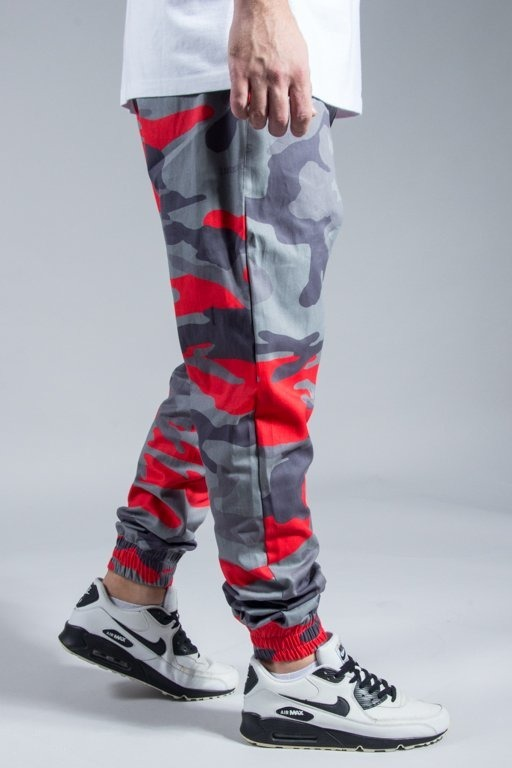 STOPROCENT PANTS CHINO JOGGER MORO RED