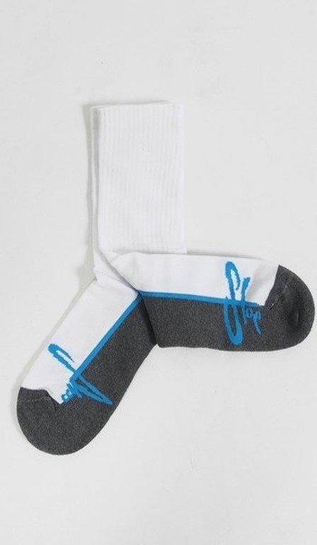 STOPROCENT SKARPETKI TAG WHITE-GREY-BLUE