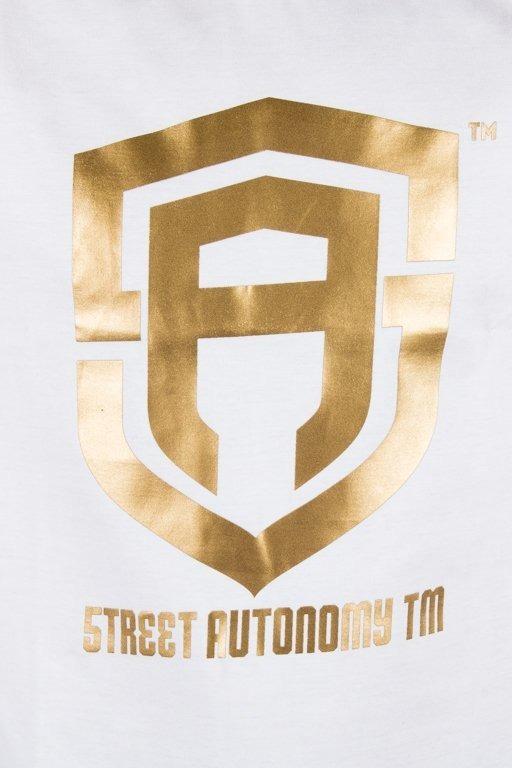 STREET AUTONOMY T-SHIRT CLASSIC LOGO WHITE-GOLD