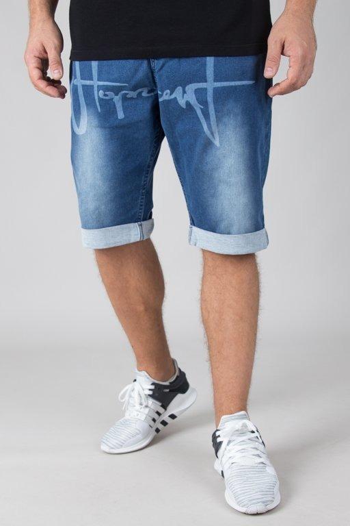 Spodenki Stoprocent Jeansowe Tag Blue