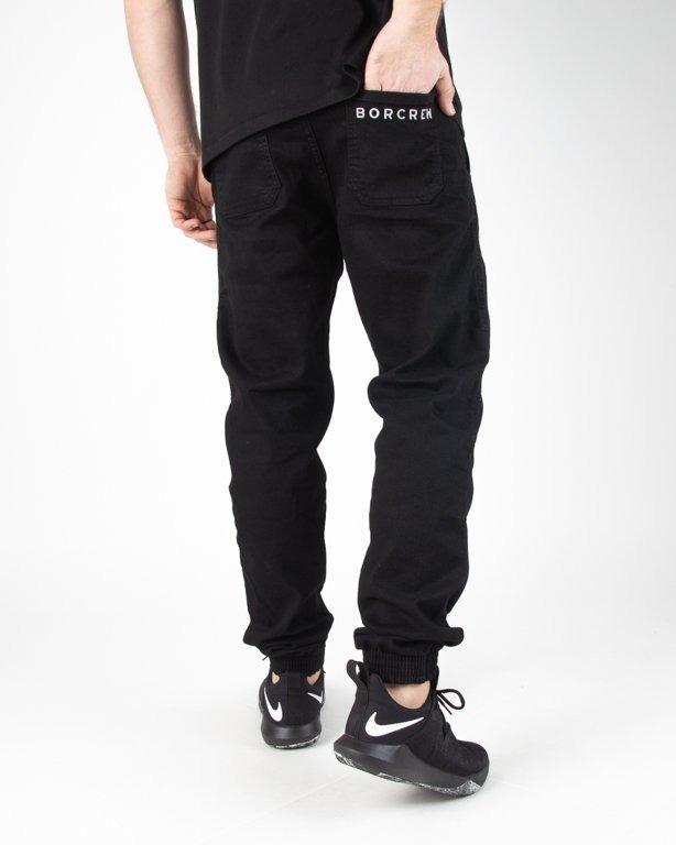 Spodnie Bor Jeansy Jogger Classic Borcrew Black
