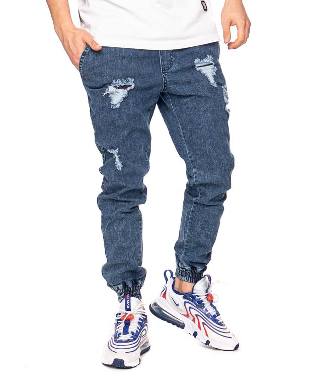 Spodnie Diamante Wear Jeans Jogger Rm Ripped Blue