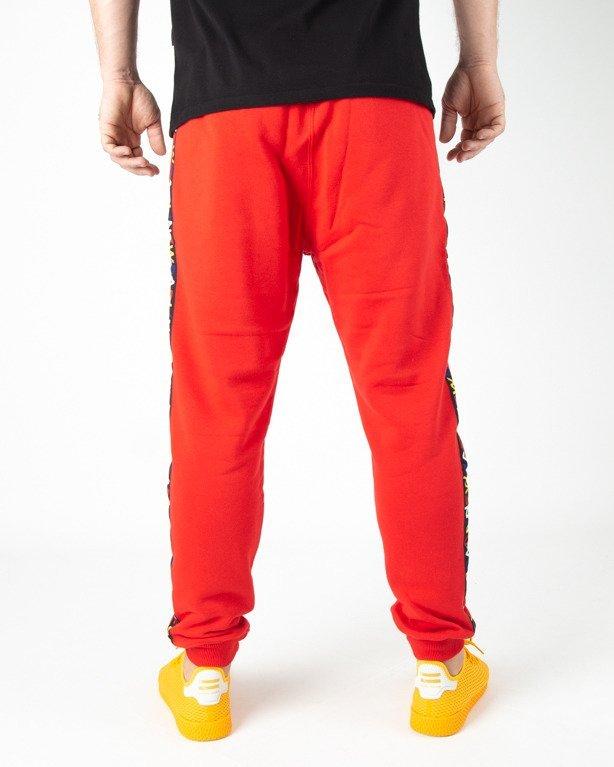 Spodnie Dresowe New Bad Line Tape Red