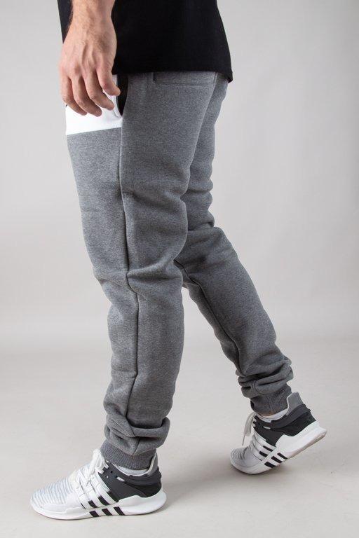 Spodnie El Polako Dresowe Fit Mistrz Grey