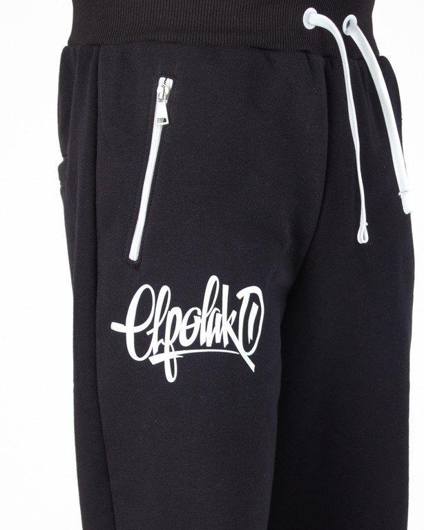 Spodnie El Polako Dresowe Regular Handmade Black