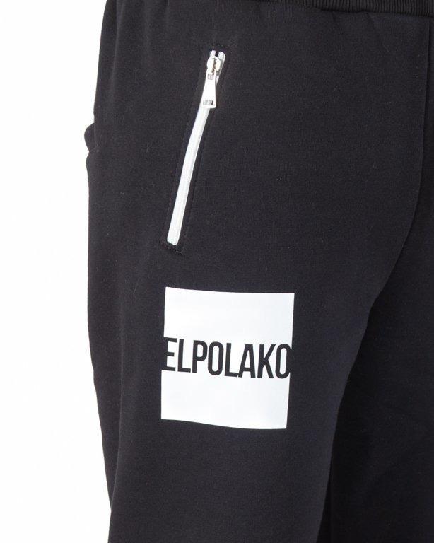 Spodnie El Polako Dresowe Regular New Box Black