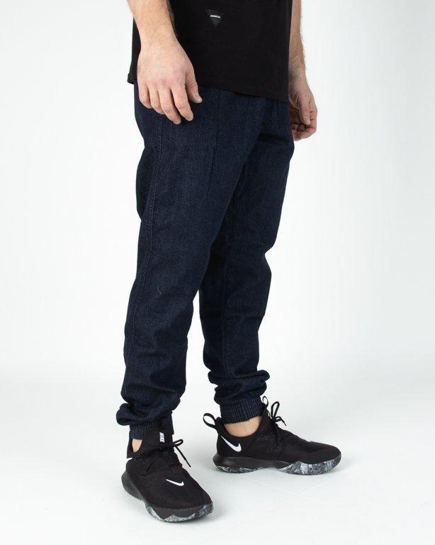 Spodnie El Polako Joggery Jeansowe Slim Classic Dark