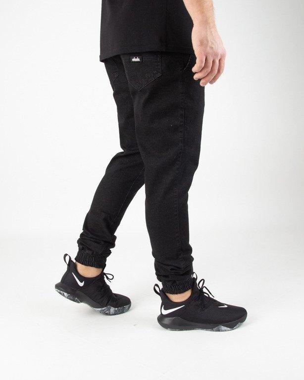 Spodnie Elade Jeansy Jogger New Haft Black