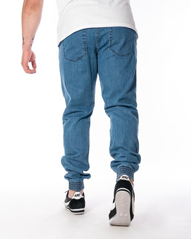 Spodnie Jeans Jogger Slim El Polako Miejski Tag Jasnoniebieskie