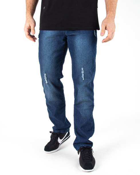 Spodnie Jeans Moro Blank Pocket Reular Damage Wash Jeans