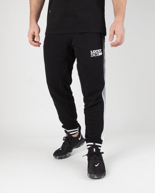 Spodnie Lucky Dice Dresowe Ld Strip Black-White
