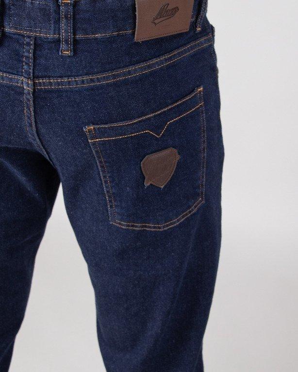 Spodnie Moro Jeansy Straight Fit Leather Shield Dark