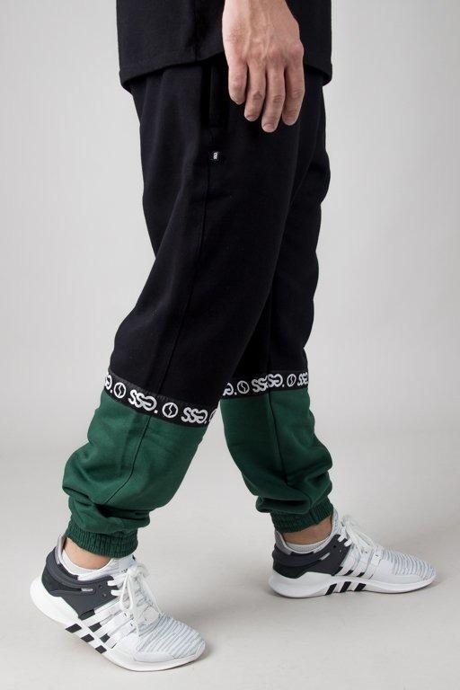 Spodnie SSG Dresowe Jogger Part Line Black-Green