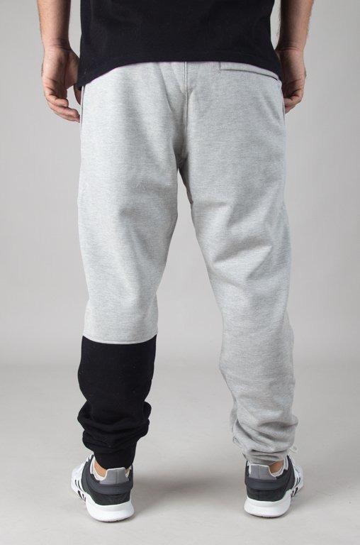 Spodnie SSG Dresowe Slim One Side Small Big Melange
