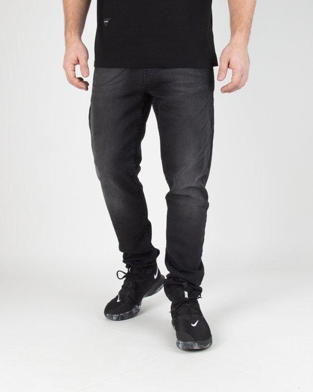 Spodnie SSG Jeansy Skinny Stretch Guma Black