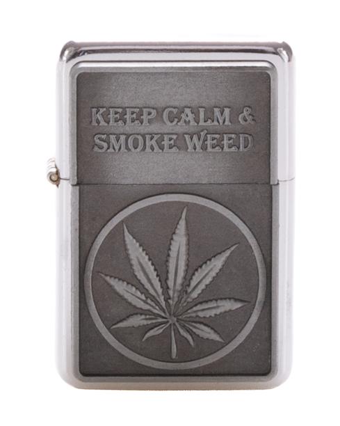 Zapaliczka Metalowa Keep Calm Silver 43