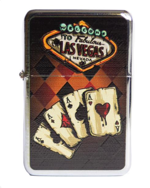 Zapaliczka Metalowa Poker Cards Silver 64